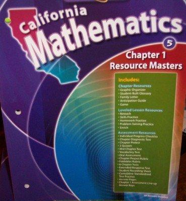 9780021060580: Chapter 1 Resource Masters Grade 5 (California Mathematics, Math Connects)