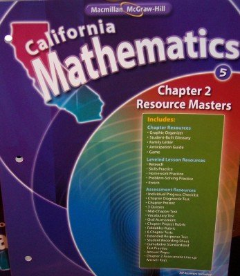 9780021060597: Chapter 2 Resource Masters Grade 5 (California Mathematics, Math Connects)