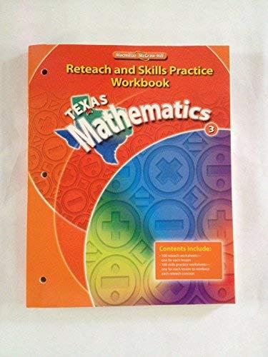 9780021060818: Texas Mathematics Reteach and Skills Practice Workbook (Grade 3) (Grade 3)