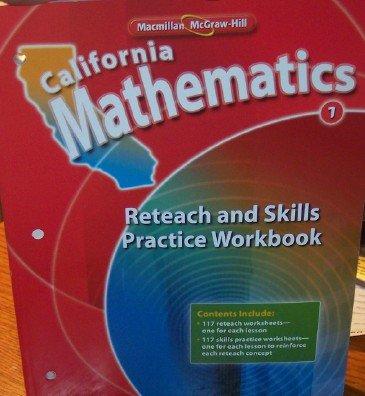 9780021063437: California Mathematics Reteach and Skills Practice Workbook Grade 1