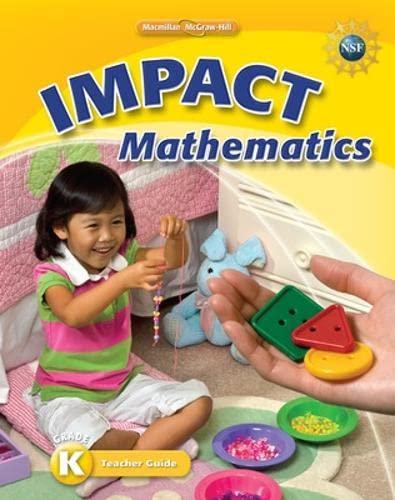 9780021063864: Impact Mathematics, Kindergarten Teacher's Guide