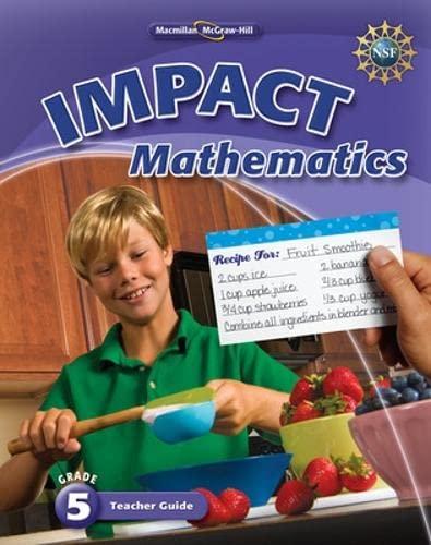 9780021063925: Math Connects, Grade 5, Impact Mathematics (Elementary Math Connects)