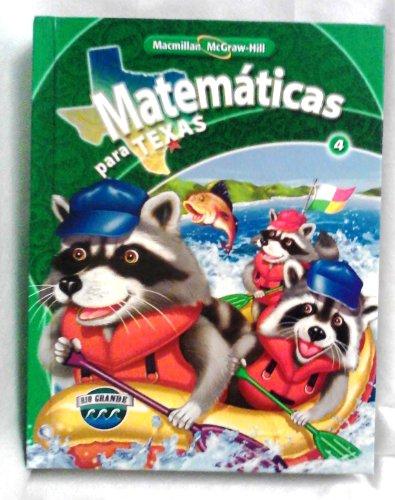 MACMILLAN MCGRAW-HILL MATEMATICAS PARA TEXAS 4: a