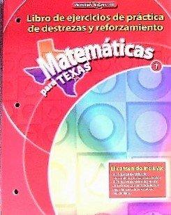 9780021065950: Matematicas para Texas 1 (Libro de ejercicios de practica de destrezas y reforzamiento)