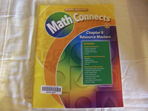 9780021071999: Math Connects: Grade K Chapter 8 Resource Masters 0021071993, 9780021071999