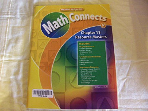 9780021072033: Math Connects: Grade K Chapter 11 Resource Masters 0021072035, 9780021072033