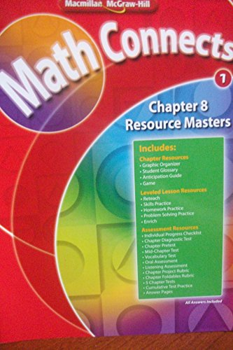 9780021072132: Math Connects Chapter 8 Resource Masters, grade 1