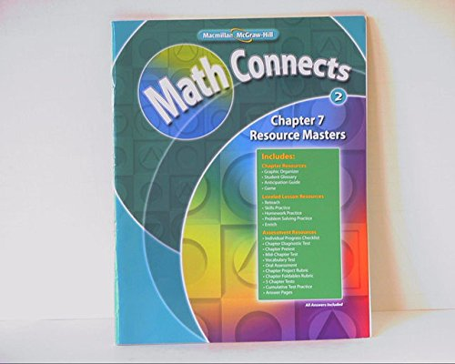 Math Connects Level 2: Chapter 7 Resource: Macmillan/McGraw-Hill