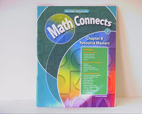 9780021072293: Math Connects Level 2: Chapter 8 Resource Masters ISBN 0021072299 9780021072293 2009 by Macmillan/McGraw-Hill