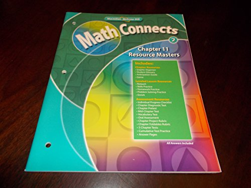 9780021072330: Chapter 11 Resource Masters Book Math Connects Grade 2 Macmillan McGraw-Hill (Math Connects)