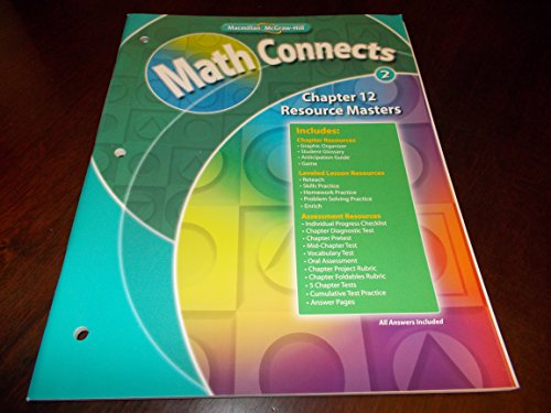9780021072347: Chapter 12 Resource Masters Macmillan McGraw-Hill Math Connects Grade 2 (Math Connects)