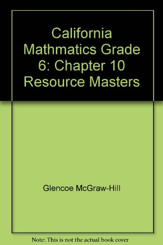 9780021072651: Chapter 10 Resource Masters (Math Connects 4)