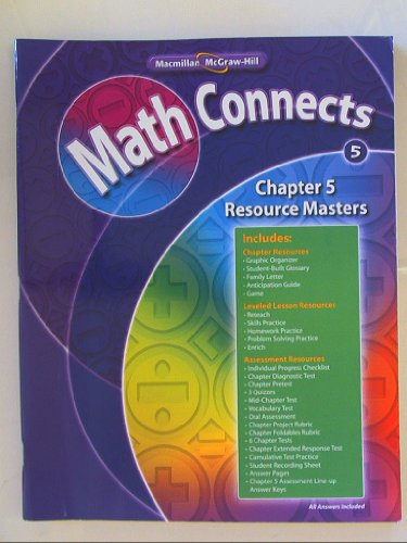 Math Connects Grade 5 Chapter 5 Resource Masters Isbn 9780021072767 0071072760