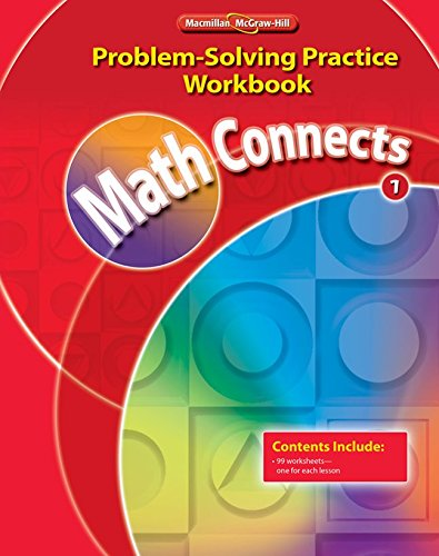 9780021072880: Math Connects, Grade 1: Problem Solving Practice Workbook