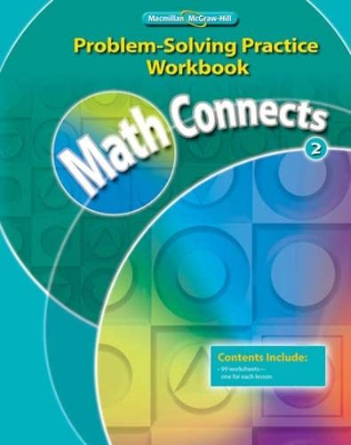 9780021072897: Math Connects, Course 2: Problem-Solving Practice Workbook