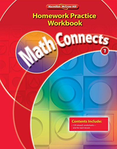 9780021072958: Math Connects, Grade 1, Homework Practice Workbook (ELEMENTARY MATH CONNECTS)