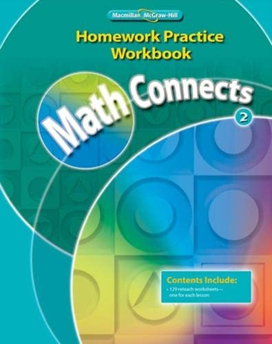 9780021072965: Math Connects, Grade 2, Homework Practice Workbook (ELEMENTARY MATH CONNECTS)