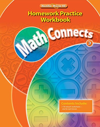 9780021072972: Math Connects, Grade 3, Homework Practice Workbook (ELEMENTARY MATH CONNECTS)