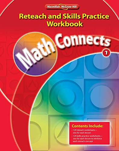 9780021073023: Math Connects, Grade 1, Reteach and Skills Practice Workbook (ELEMENTARY MATH CONNECTS)