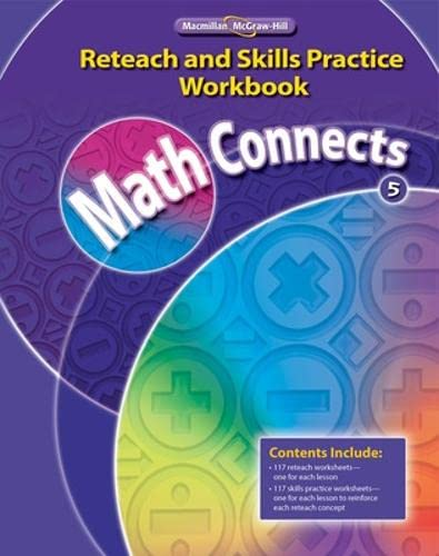 9780021073061: Math Concepts Grade 5, Reteach and Skills Practice Workbook (ELEMENTARY MATH CONNECTS)