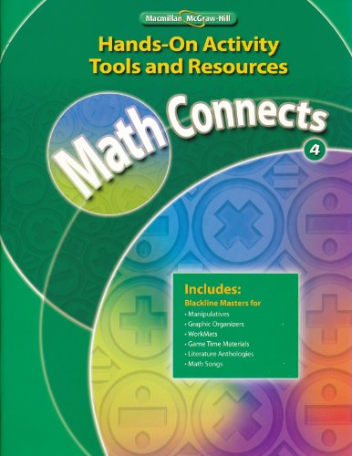 9780021073214: Hands-On Activities Tools and Resources 4 (Math Connects 4)