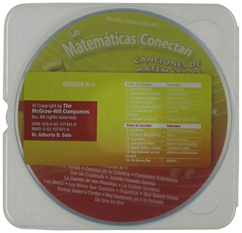 9780021074419: Math Connects, Grades K-1, Spanish Math Songs CD (ELEMENTARY MATH CONNECTS) (Spanish Edition)