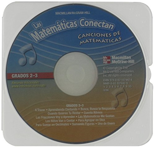 9780021074426: Math Connects, Grades 2-3, Spanish Math Songs CD (Spanish Edition)