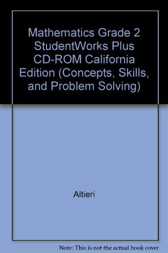 9780021079384: Mathematics Grade 2 StudentWorks Plus CD-ROM California Edition (Concepts, Skills, and Problem Solving)