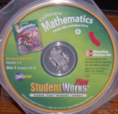 California Mathematics Student Works Plus, Grade 4