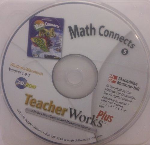 9780021080441: Math Connects Grade 5 Teacher Works Plus CD-ROM