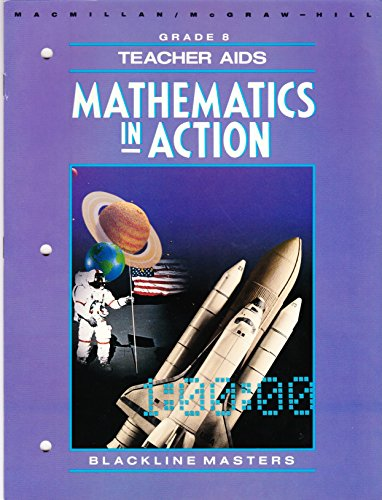 9780021086948: Teacher Aids & Blackline Masters Grade 8 (Mathematics in Action)
