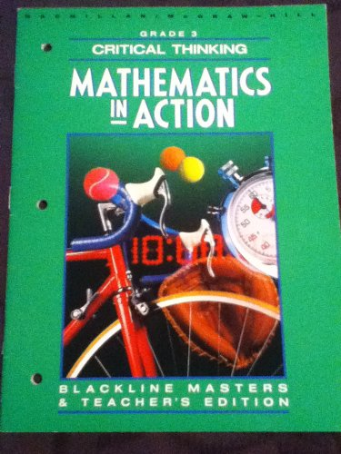 9780021088362: Mathematics in Action--Critical Thinking--Grade 3