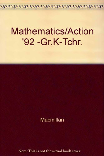 9780021090099: Mathematics/Action '92 -Gr.K-Tchr.