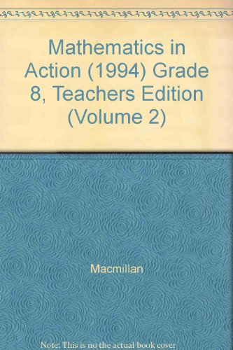 9780021092864: Mathematics in Action: Teacher's Edition, Part 2