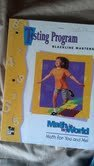 9780021095162: Testing Program Blackline Masters Grade 1 (Math In My World, Teacher's Manual)
