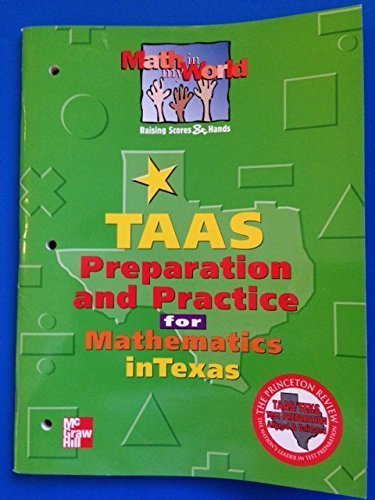 9780021103102: TAAS Preparation and Practice for Mathematics in Texas (Math in my World: Raising Scores & Hands, Grade 2)