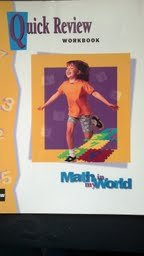 9780021105458: Math in My World: Quick Review Workbook Grade 1