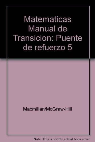 9780021115679: Matematicas Manual de Transicion: Puente de refuerzo 5