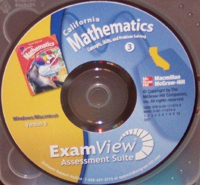 9780021118748: California Mathematics ExamView Assessment Suite, Grade 3 (Concepts, Skills, and Problem Solving, Version 5)