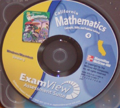 9780021118816: California Mathematics ExamView Assessment Suite, Grade 4 (Concepts, Skills, and Problem Solving, Version 5)
