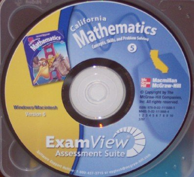 9780021118885: California Mathematics ExamView Assessment Suite, Grade 5 (Concept, Skills, and Problem Solving)