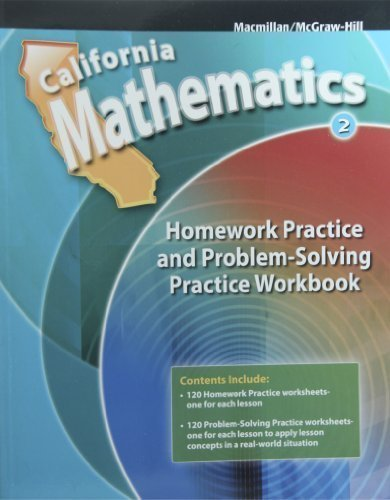 9780021119660: Homework Practice and Problem Solving Practice Workbook Grade 2 (California Mathematics)