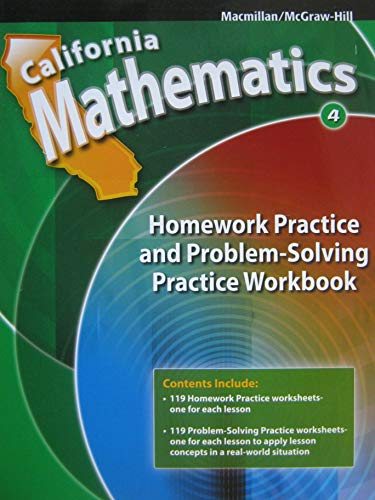 9780021119684: Mathematics Homework Practice and Problem-Solving Workbook Grade 4 (California Edition)