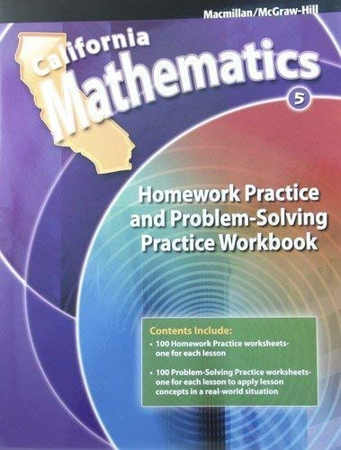 9780021119691: California Mathematics 5th Grade Homework Practice and Problem-Solving Practice Workbook