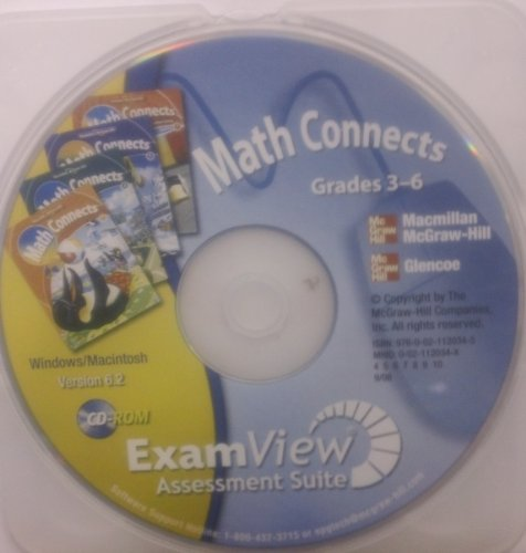9780021120345: ExamView Assessment Suite (Math Connects, Grades 3-6)