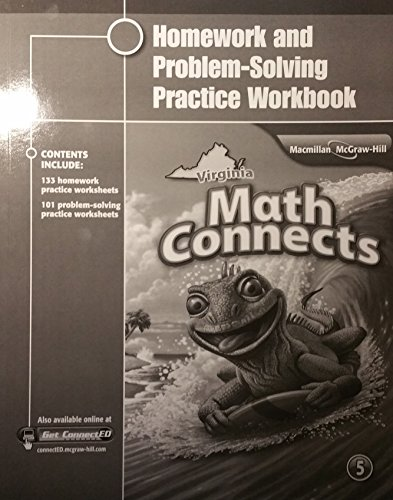 9780021134427: Homework and Problem-Solving Practice Workbook, Grade 5, Virginia Math Connects