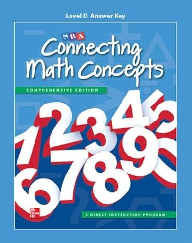 9780021148998: Connecting Math Concepts Level D, Additional Answer Key