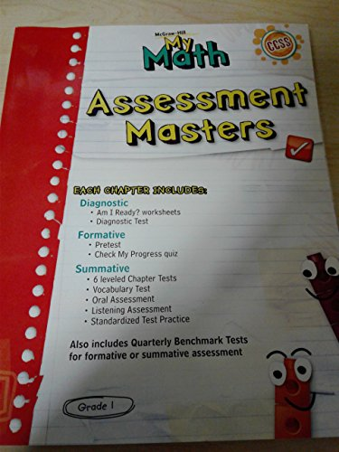 9780021161782: My Math Grade 1 Assessment Masters
