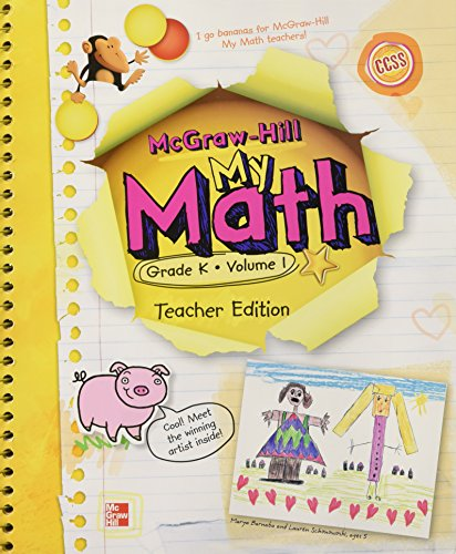 9780021161973: My Math, Grade K Vol. 1, Teacher's Edition, CCSS Common Core State Standards