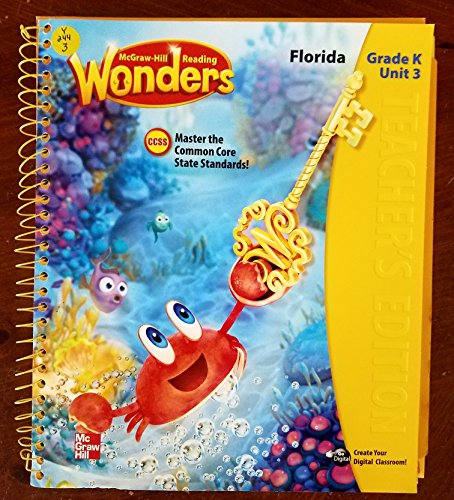 9780021186044: McGraw-Hill Reading Wonders Grade K Unit 3 Spiral Bound Teachers Edition (Reading Wonders)